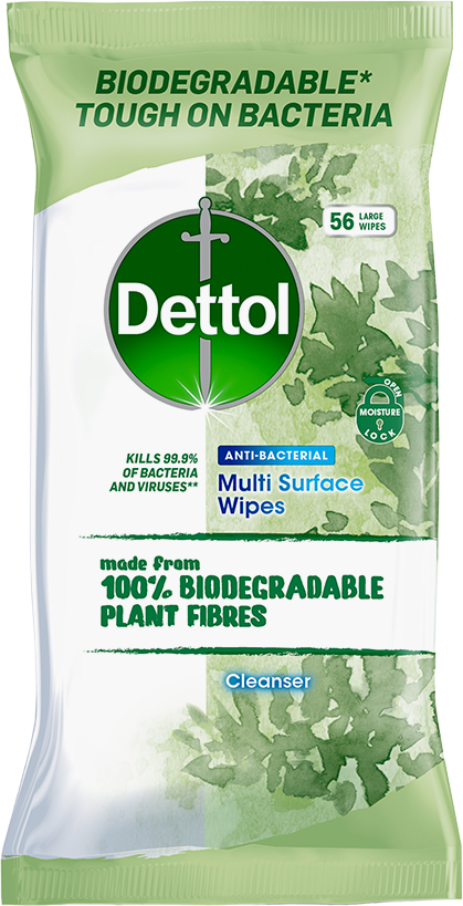 DETTOL BIODEGRADABLE CLEANSING SURFACE WIPES
