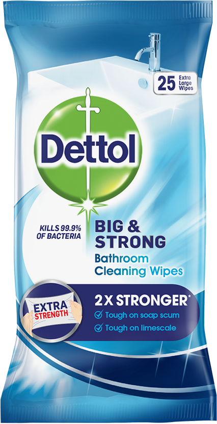 DETTOL BIG AND STRONG BATHROOM WIPES
